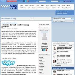 10 outils de web conferencing gratuits