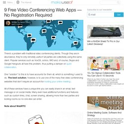 9 Free Video Conferencing Web Apps