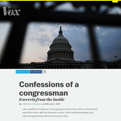 Confessions of a congressman: 9 secrets from the inside