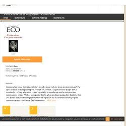 Confessions d'un jeune romancier - Umberto Eco