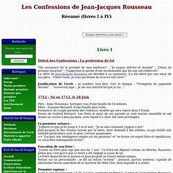 Les confessions de Rousseau - Résumé