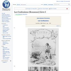 Les Confessions (Rousseau)/Livre I