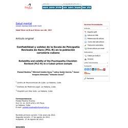 Confiabilidad y validez de la Escala de Psicopatía Revisada de Hare (PCL-R) en la población carcelaria cubana
