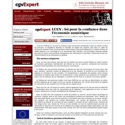 LCEN : loi pour la confiance dans l'économie numérique