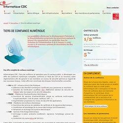 Tiers de confiance numérique - Informatique CDC