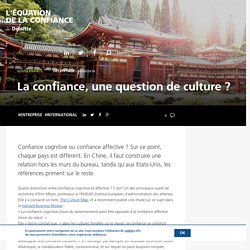 La confiance, une question de culture ?
