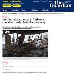 Bushfire crisis expected to further sap confidence in the Australian economy