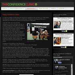 Riding Confidence Clinics « ianbanyard.com