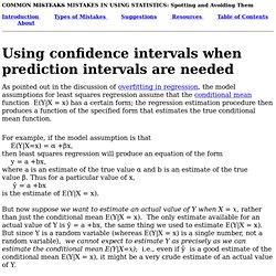 Confidence vs prediction intervals for regression