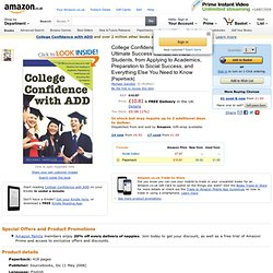 College Confidence with ADD: The Ultimate Success Manual