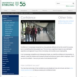 Confidence – University of Stirling