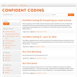 Confident Coding | JavaScript for the Web