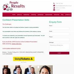 Confident Presentation Skills - People Results