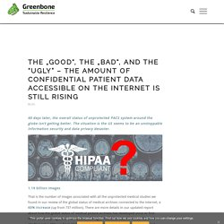 """The """"Good"""", the """"Bad"""", and the """"Ugly"""" - the amount of confidential patient data accessible on the internet is still rising - Greenbone Networks"""