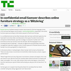 In confidential email Samwer describes online furniture strategy as a 'Blitzkrieg'