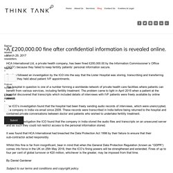 A £200,000.00 fine after confidential information is revealed online. — Think Tank Legal - Legal Consultants, Commercial Lawyers, Corporate Lawyers, Business Lawyers, Commercial and Corporate Law