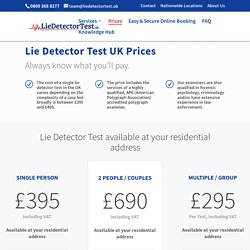 Lie Detector Test UK Prices - UK's #1 Private and Confidential Polygraph Provider