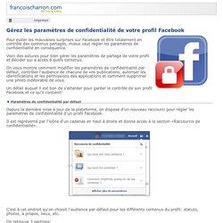 Gérez les paramètres de confidentialité de votre profil Facebook