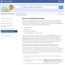 Droit à la confidentialité des images