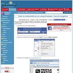 Tester la confidentialité de son compte Facebook - Tous les navigateurs