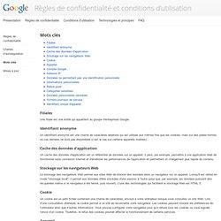 Mots clés – Règles et principes – Google