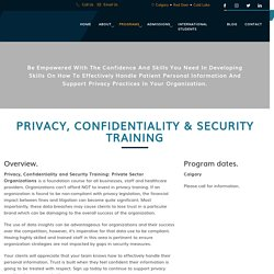 Privacy, Confidentiality & Security Training - MCG Career College