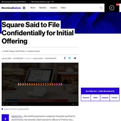 Square Said to File Confidentially for Initial Offering