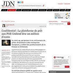 Confidentiel : La plateforme de prêt aux PME Unilend lève un million d'euros