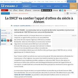 La SNCF va confier l'appel d'offres du siècle à Alstom