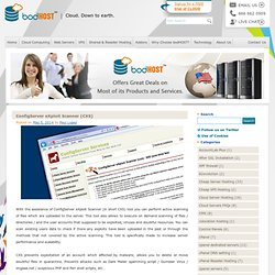 ConfigServer eXploit Scanner (CXS)