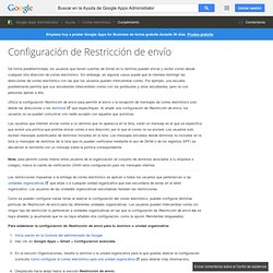 Restrict email delivery - Google Apps Help