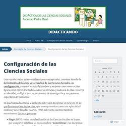 Configuración de las Ciencias Sociales