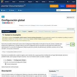 Configuración global
