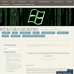 Configuración de un Servidor RADIUS en Windows Server 2012 Parte 3