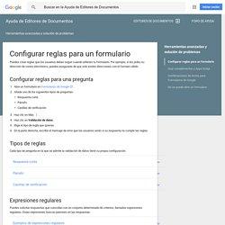 Configurar reglas para un formulario - Ayuda de Editores de Documentos