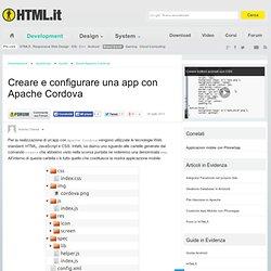 Creare e configurare una app con Apache Cordova