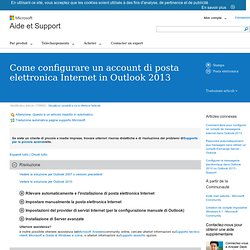 Come configurare un account di posta elettronica Internet in Outlook 2013