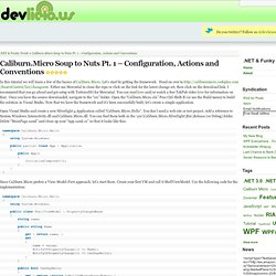 Caliburn.Micro Soup to Nuts Pt. 1 – Configuration, Actions and Conventions