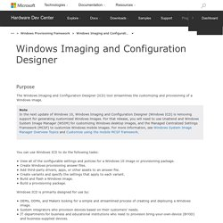Windows Imaging and Configuration Designer - Windows 10 hardware dev
