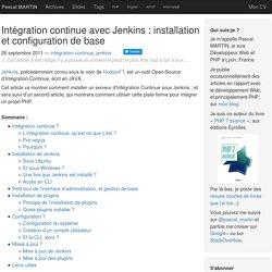 Intégration continue avec Jenkins : installation et configuration de base — Pascal MARTIN: développement Web & PHP