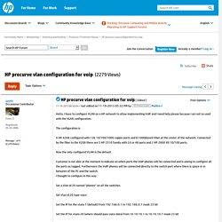 HP procurve vlan configuration for voip