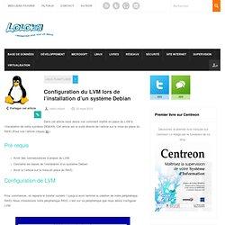 Configuration du LVM lors de l'installation d'un système Debian