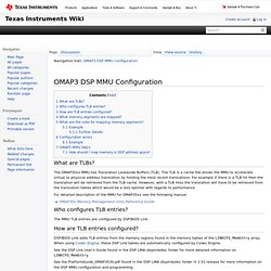 OMAP3 DSP MMU Configuration - Texas Instruments Embedded Processors Wiki - Iceweasel