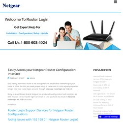 Easily Access your Netgear Router Configuration Interface