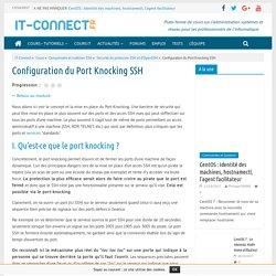 Configuration du Port Knocking SSH