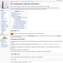 Ma configuration logicielle domotique - SynoWiki