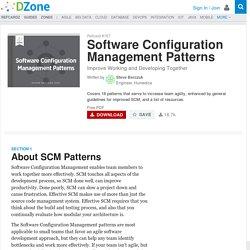 Software Configuration Management Patterns - DZone - Refcardz