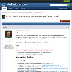 System Center 2012 Configuration Manager Guides