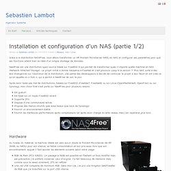 Sebastien Lambot Configuration de Nas4Free sur un HP MicroServer N38L / N40L (1/2)
