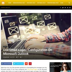 Cox Email Login : Configuration On Microsoft Outlook